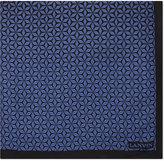Lanvin Geometric print silk pocket square