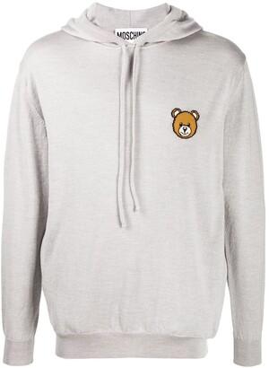 Moschino Teddy Bear motif knitted hoodie