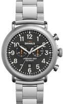 Shinola 47mm Runwell Chronograph Watch, Steel/Gray