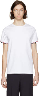 Moncler White Flag Sleeves T-Shirt