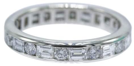 Tiffany & Co. Platinum 1.51ct. Diamond Channel Circle Ring Size 6.0