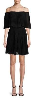 ABS by Allen Schwartz Pleated Popover Dress