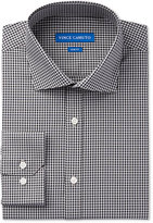 Vince Camuto Men's Slim-Fit Navy/Grey Gingham Dress Shirt