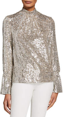 Zadig & Voltaire Tummy Sequined High-Neck Long-Sleeve Top