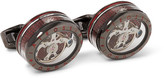 Tateossian Panorama Tourbillon Rhodium-Plated Cufflinks