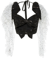 Rodarte Sequin Long Sleeve Bustier