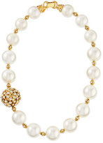 Jose & Maria Barrera Gold-Plated & Pearl Beaded Necklace