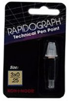 Koh-I-Noor Rapidograph Sts Steel Point 72D 3X0/.25