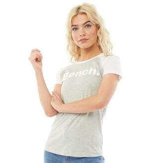 Bench Womens Justino Printed T-Shirt Grey Marl