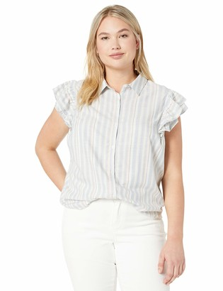 Jessica Simpson Women's Zaylee Short Sleeve Button Down Blouse