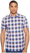 Ben Sherman Short Sleeve Large Plaid Slub Shirt