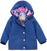 Hatley Girls' Cotton Sketch Flower Coat, Navy