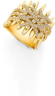 Hueb Diamond Spike Ring