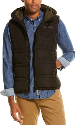 Scotch & Soda Hooded Quilted Vest