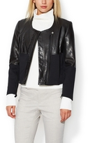 Helmut Lang Motion Blazer with Leather Accents