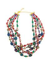 Jose & Maria Barrera Five-Row Multi-Jewel Twist Necklace