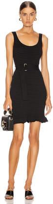 Nicholas Knit Smocked Mini Dress in Black | FWRD