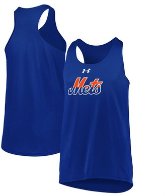 Under Armour Girls Youth Royal New York Mets Big Time Fan Performance Tank Top