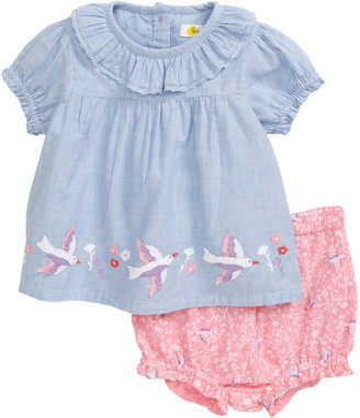 Boden Embroidered Top & Shorts Set