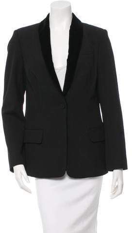 A.L.C. Velvet-Trimmed Single-Button Blazer w/ Tags