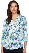 NYDJ Solid Blouse w/ Pleated Back Women's Blouse