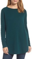 Halogen Women's Shirttail Wool & Cashmere Boatneck Tunic