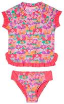 Hula Star Toddler Girl's Butterfly Cutie Two-Piece Rashguard Swimsuit