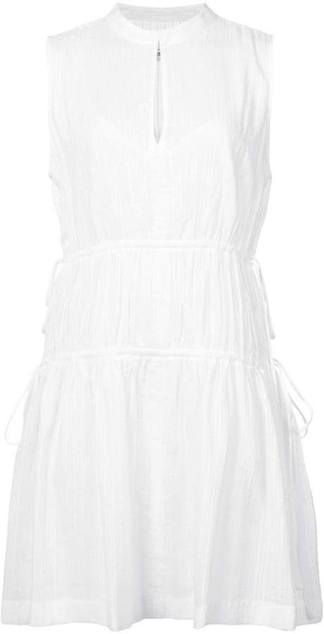 Derek Lam 10 Crosby Short Sleeve Dress With Tie Detail