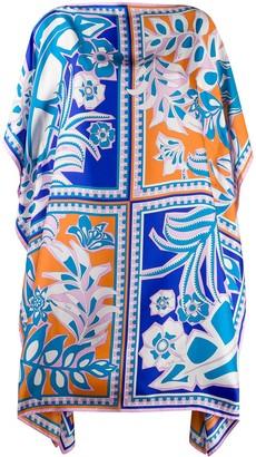 Emilio Pucci Floral Print Silk Kaftan