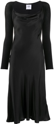 Opening Ceremony Cowl-Neck Satin Dress
