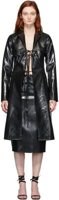 Supriya Lele Black Rubberized Bra Coat