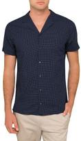 HUGO BOSS Square Print Shirt