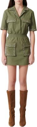 Maje Ramil Military Style Minidress