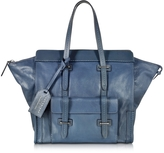 The Bridge Ascott Blue Leather Small Tote