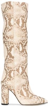 Paris Texas Snake-Print Boots