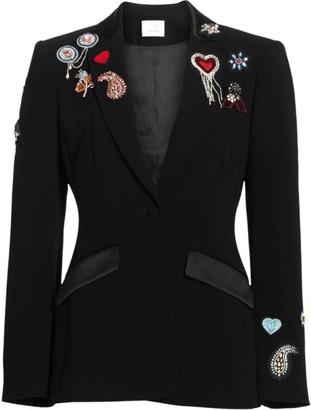 Cinq à Sept Love Cheyenne Embroidered Blazer