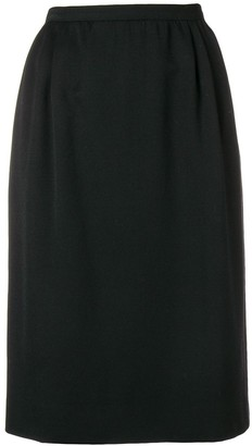 Valentino Pre-Owned Pleated Detail Skirt