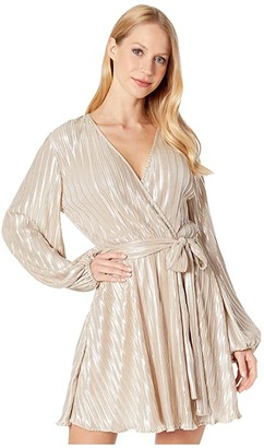 Bardot Belissa Pleat Dress (Champagne) Women's Dress