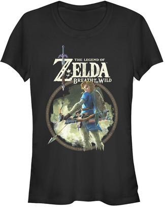 Fifth Sun Women's Tee Shirts BLACK - Legend of Zelda Black Breath of the Wild Sky Tee - Women & Juniors
