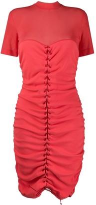 Unravel Project Lace-Up Midi Dress