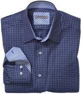 Johnston & Murphy Tailored Fit Dark Graph Check Shirt