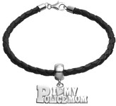 "Insignia Collection Sterling Silver & Leather ""I Love My Police Mom"" Bracelet"