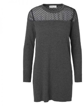 Rosemunde Spotty Detail Dark Grey Melange Jumper - UK 10 - Grey