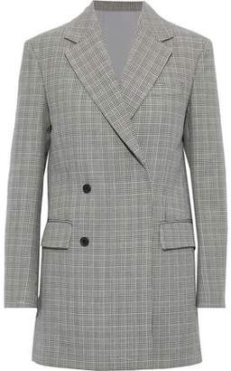 Calvin Klein Double-breasted Checked Wool Blazer