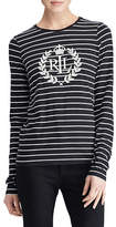 Lauren Ralph Lauren Studded Striped Long-Sleeve Tee