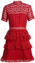 Self-Portrait Star guipure-lace mini dress
