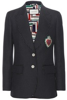 Gucci Polka-dotted wool, mohair and cotton blazer