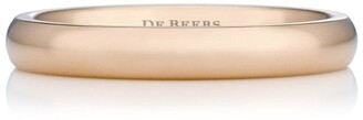 De Beers Small Rose Gold and Diamond Wide Court Band