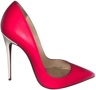 Christian Louboutin So Kate Pink Leather Heels