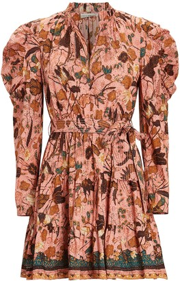 Ulla Johnson Naima Printed Puff Sleeve Dress